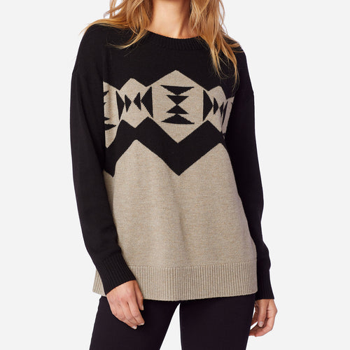 Sonora Pullover - Black/Taupe