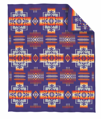 Pendleton Chief Joseph Muchacho Blanket - Purple
