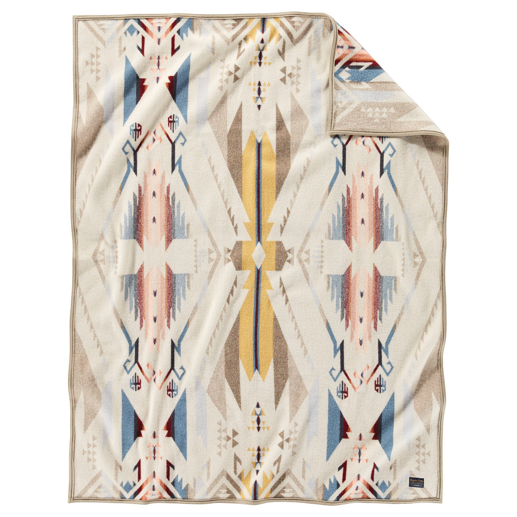 PRE ORDER Jacquard Throw - White Sands
