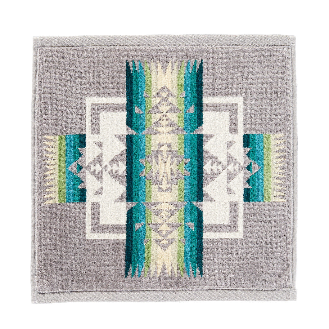 Jacquard Wash Cloth - Chief Joseph Grey