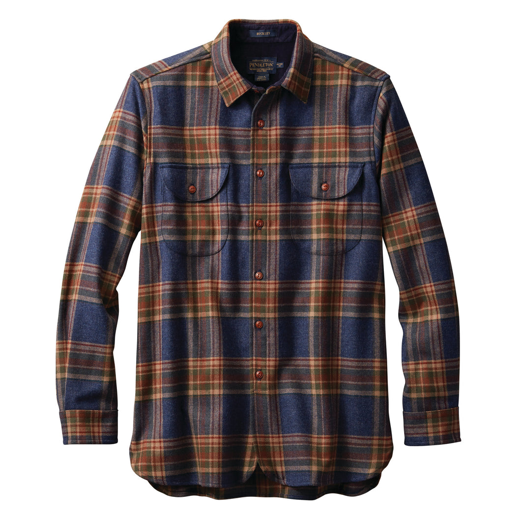 Buckley Shirt - Navy Twill Plaid