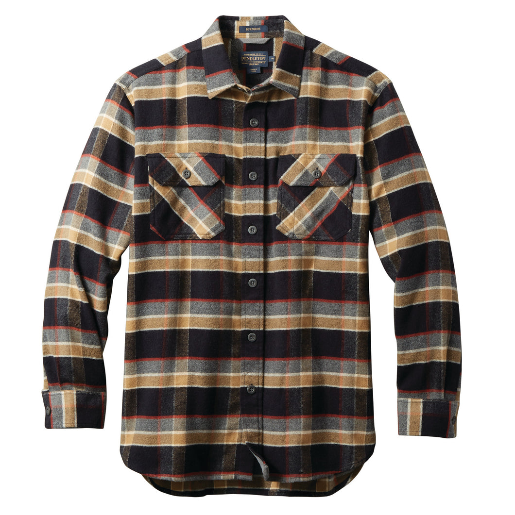 Super Soft Burnside Flannel - Black/Red/Grey Plaid
