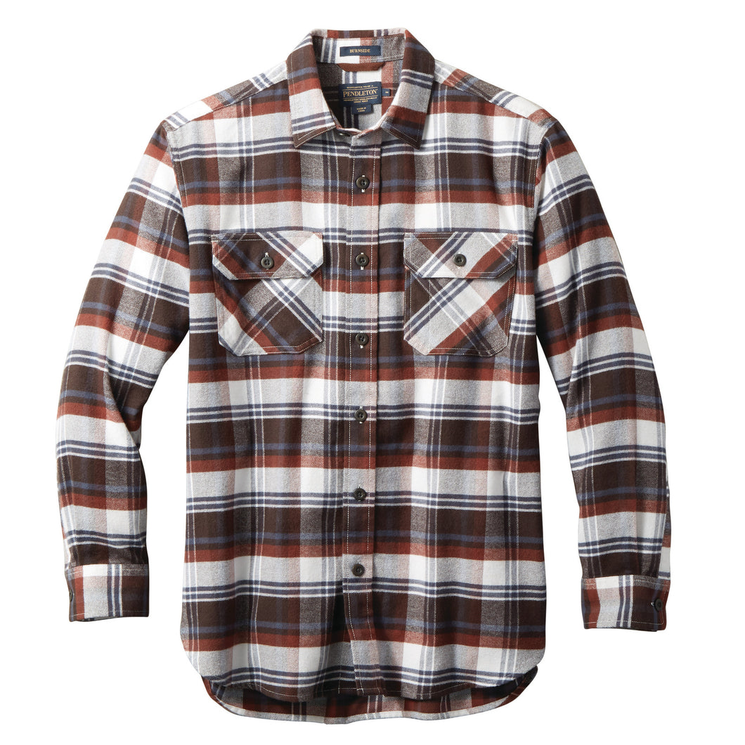 Super Soft Burnside Flannel - Red/Brown/Navy Plaid