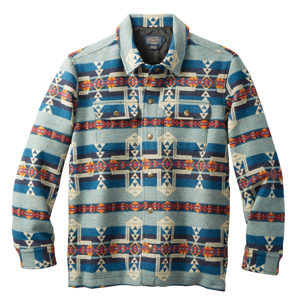 Snap Front Jacquard Jacket - Horizon Cross