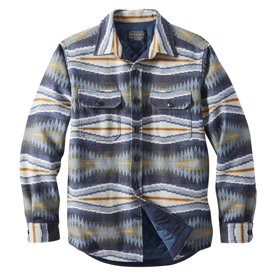Jacquard Quilted Shirt Jacket - Crescent Bay