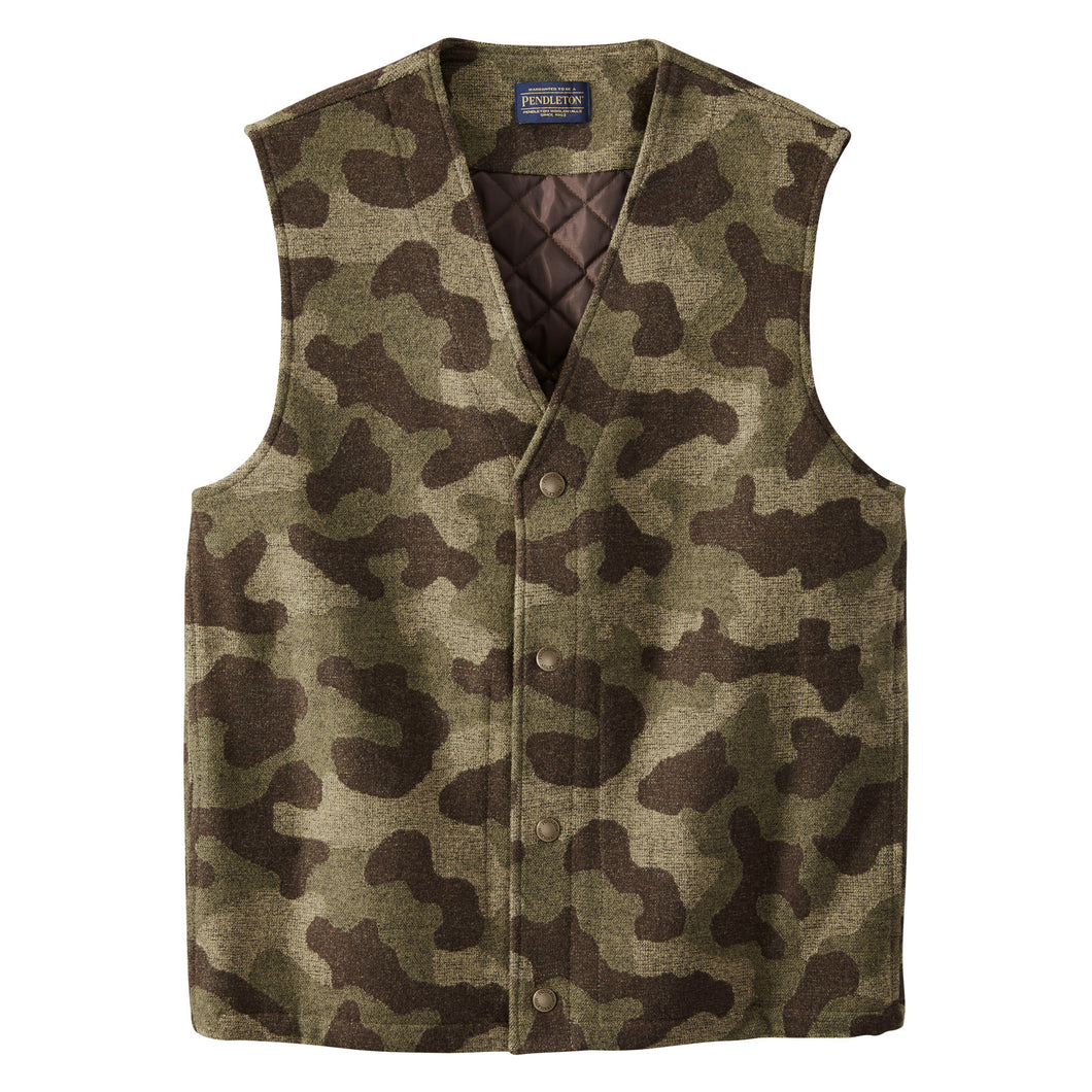 Jacquard Quilted Vest - Camo