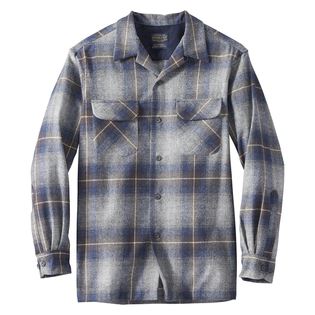 Board Shirt - Grey/Navy/Brown Ombre