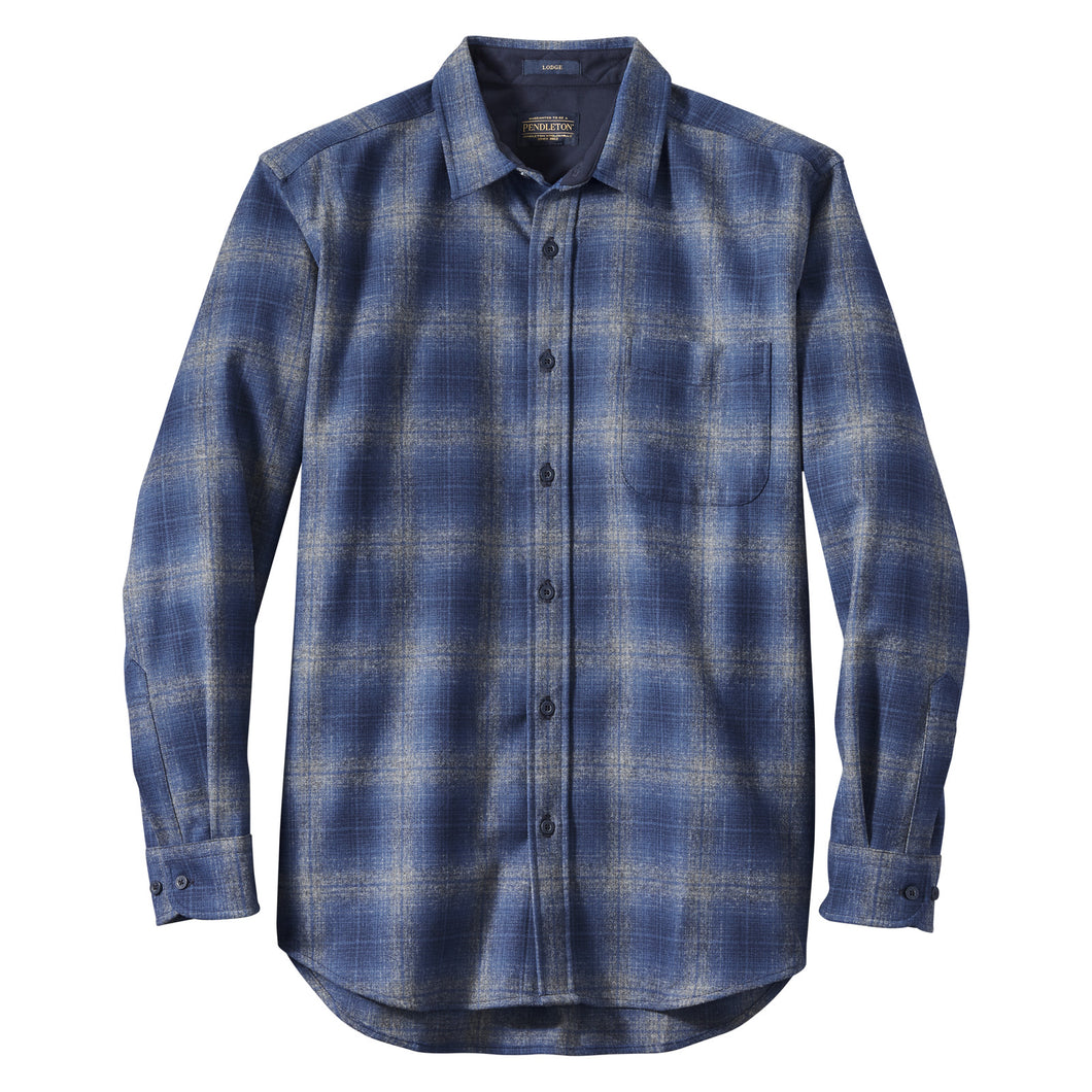 Lodge Shirt - Blue/Navy/Grey Ombre