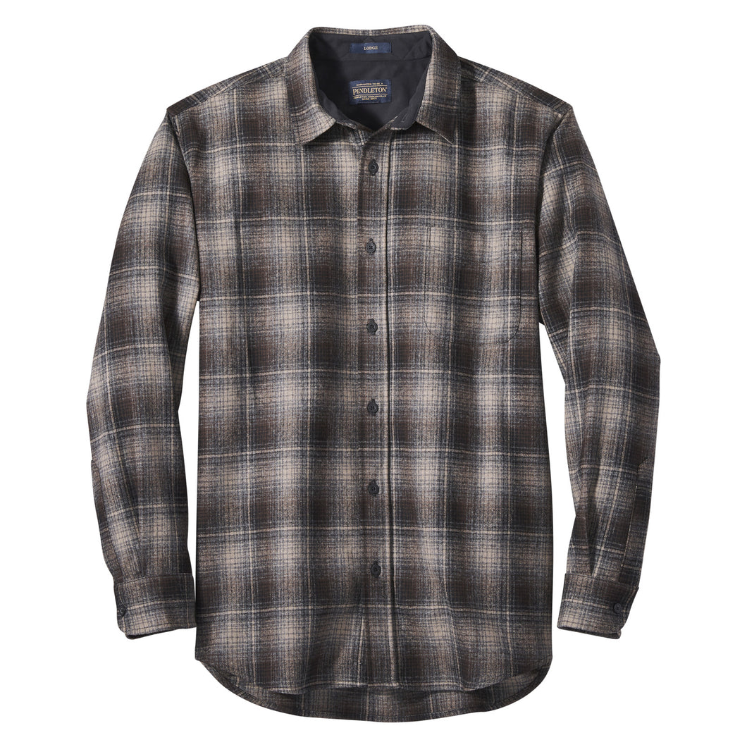 Lodge Shirt - Tan/Black/Grey Ombre