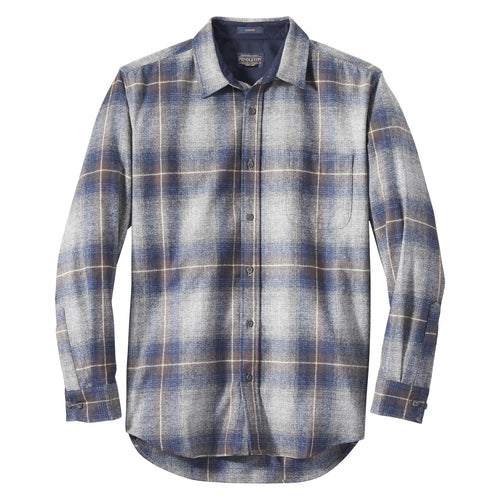 Lodge Shirt - Grey/Navy/Brown Ombre