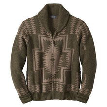 PRE ORDER Harding Zip Cardigan - Green/Brown