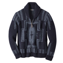 Harding Zip Cardigan - Navy/Blue