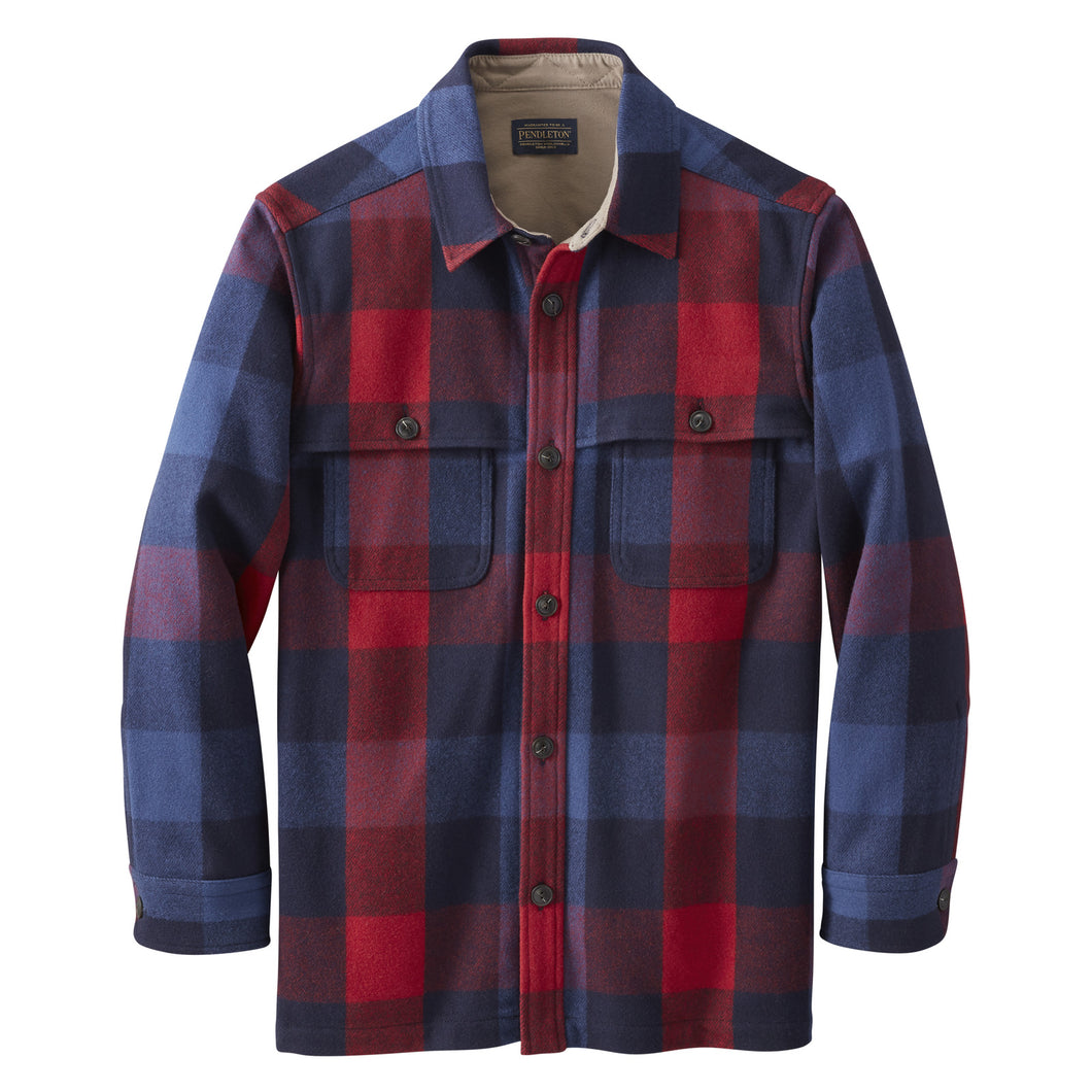 Heston Coat - Navy / Red Check