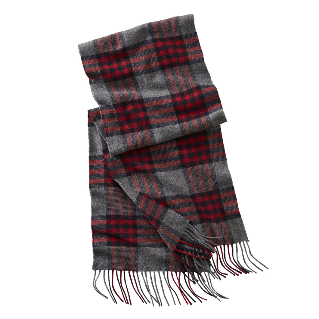 Plaid Scarf - Red Check