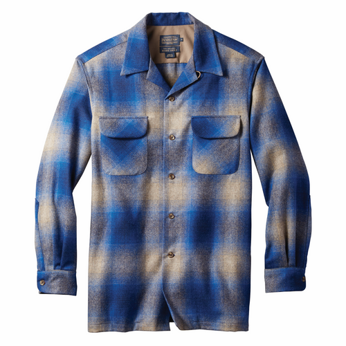 Board Shirt - Tan/Blue Ombre