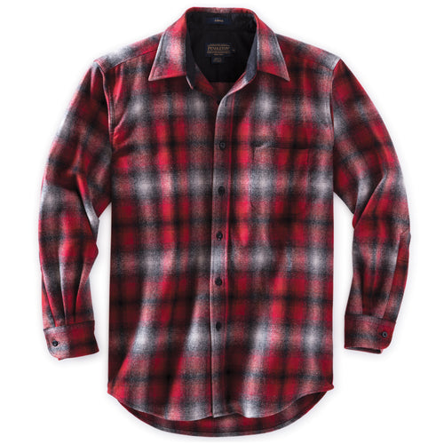 Pendleton Lodge Shirt - Red & Grey Ombre