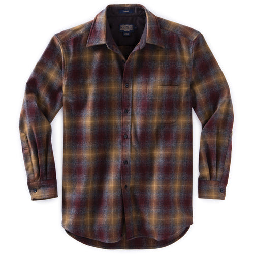Pendleton Lodge Shirt - Maroon & Bronze Ombre