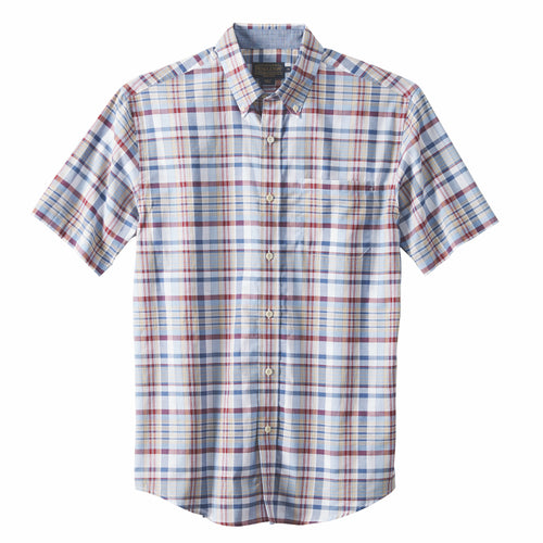 Seaside Shirt - Blue / Red Plaid