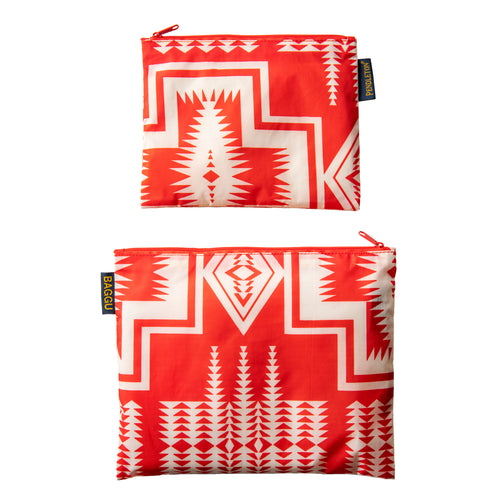 Two Pack Zip Pouch - Harding Red