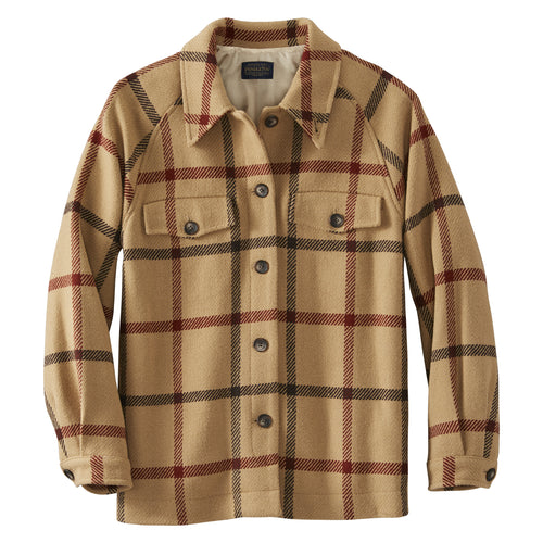 Daphne Jacket - Tan Multi Windowpane