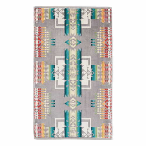 Jacquard Hand Towel - Chief Joseph Grey