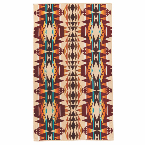 Jacquard Beach Towel - Crescent Butte