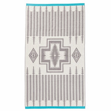 Jacquard Beach Towel - Harding Grey