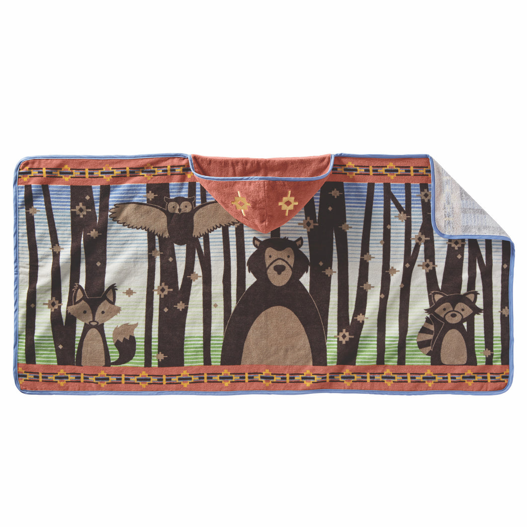Hooded Baby Towel - Woodland Neighbours