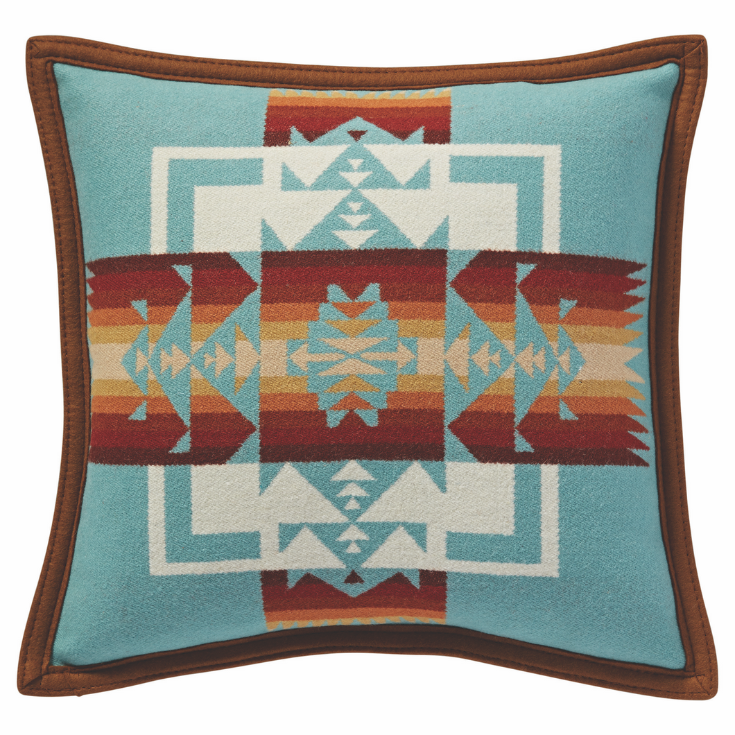PRE-ORDER Chief Joseph Pillow - Aqua