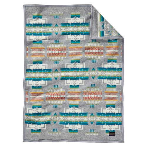 Chief Joseph Baby Blanket - Grey