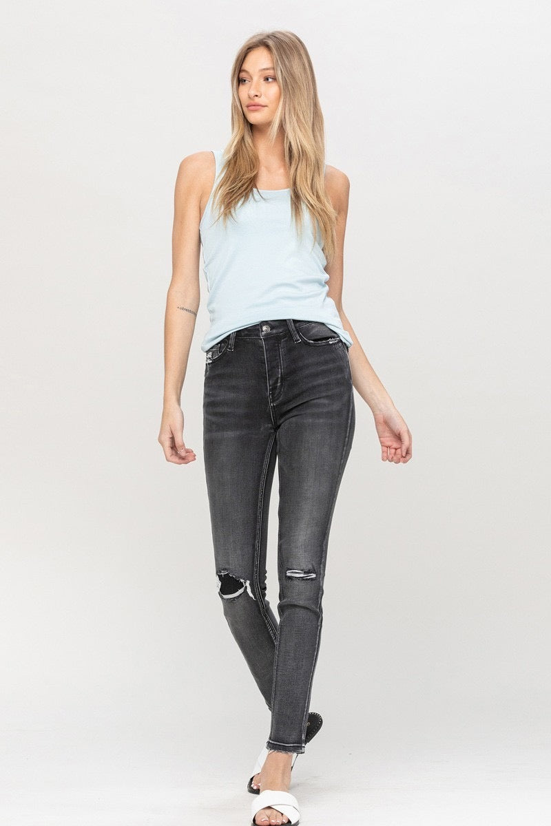 Burnout Black Skinny Jeans