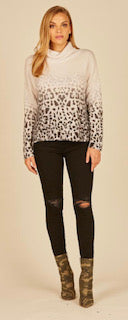 Faded Leopard Sweater