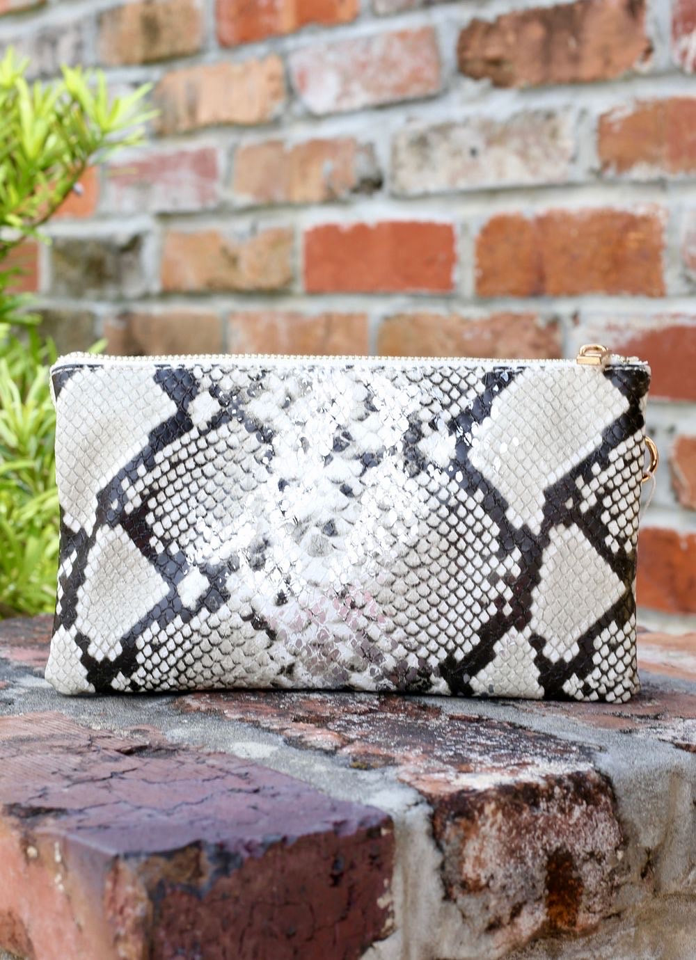 The Liz Bag - Silver Fleck Snake