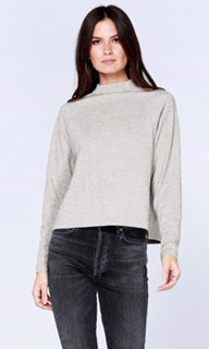 Cropped Mock Turtleneck