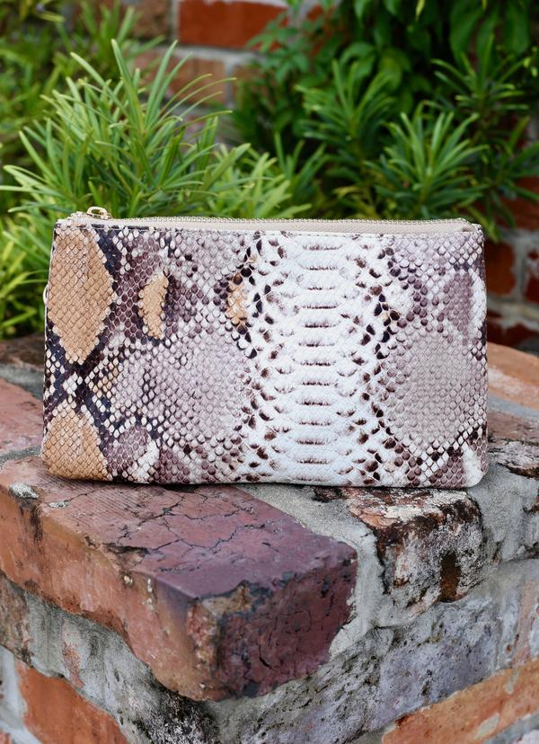 The Liz Bag - Mauve Snake