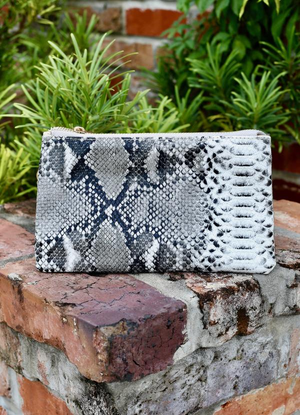 The Liz Bag - Charcoal Snake