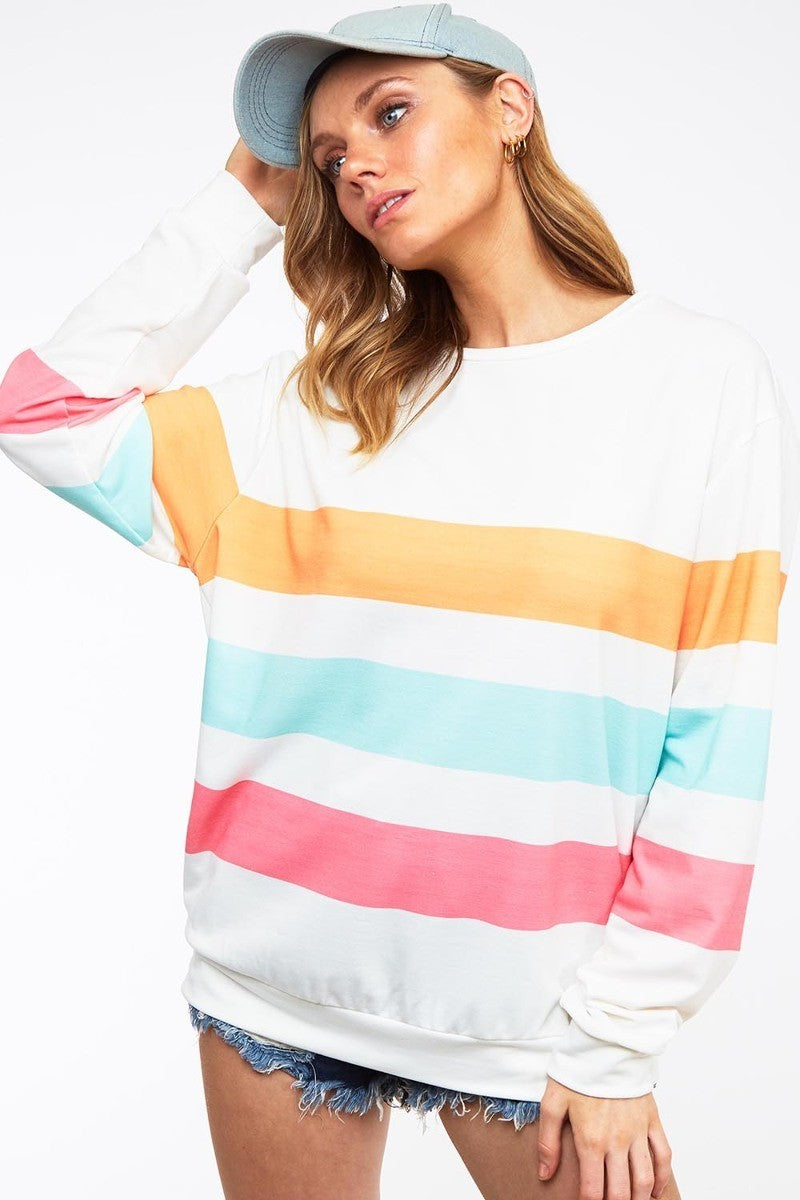 Color Block Sweatshirt -  NEW COLOR!