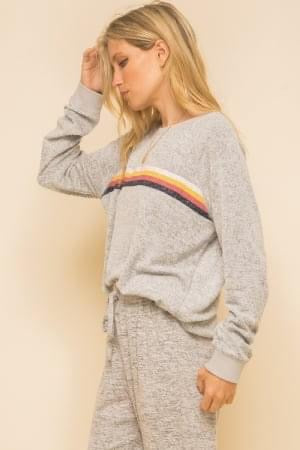 Retro Stripe Sweatshirt