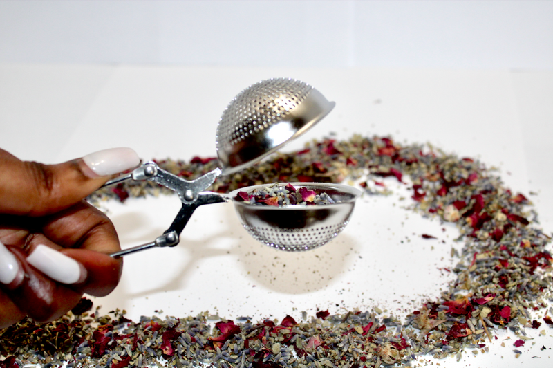Silver Tea Infuser- Pinch to Open