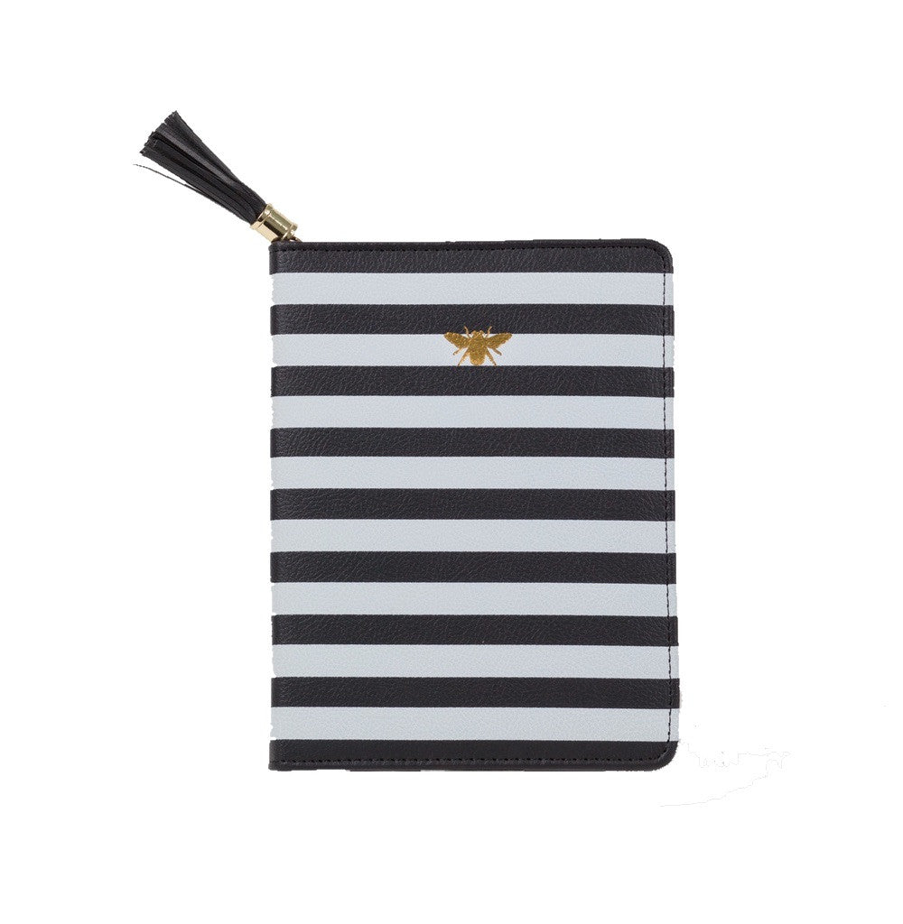 Black and white stripe journal
