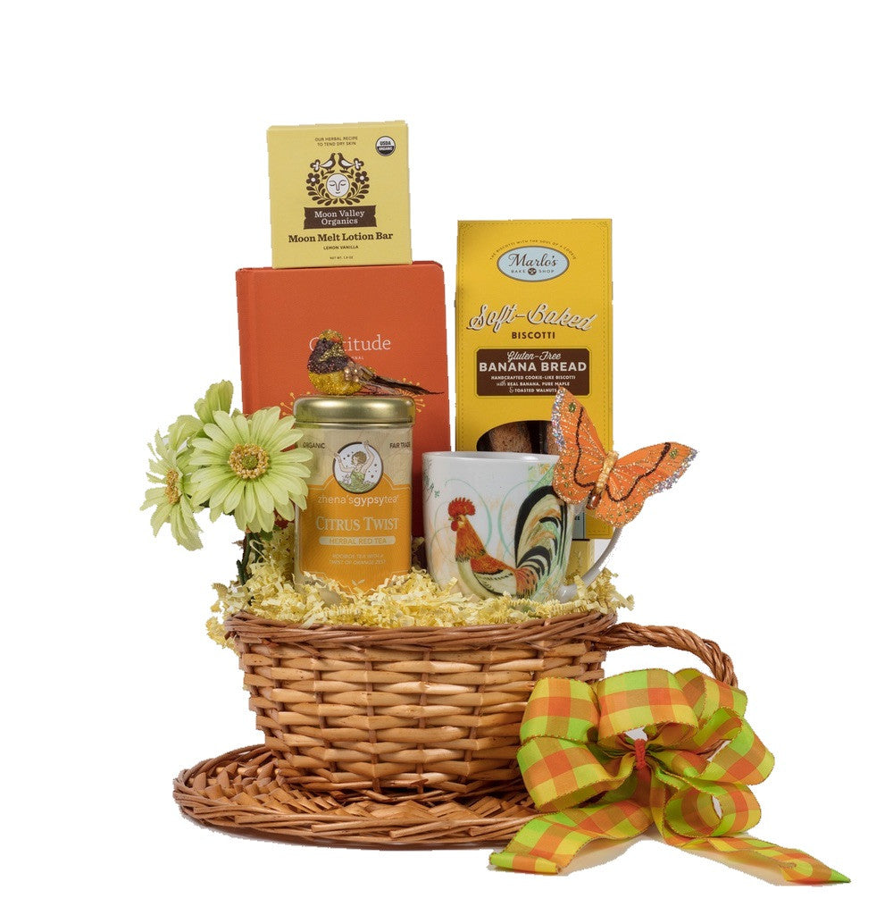 welcome the day gift basket
