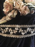 Beaded Headband- Black & Pearl