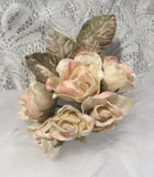 English Rose Posy- Cream/Pink