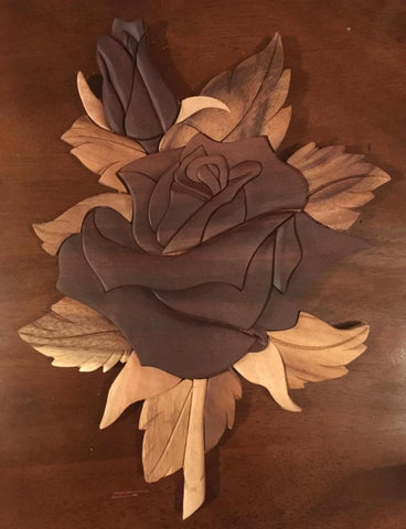 Wooden Rose Wall Hanging