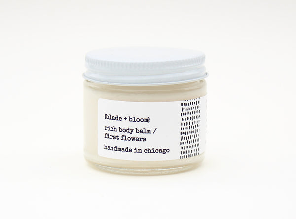 rich body balm / first flowers, 2 oz.