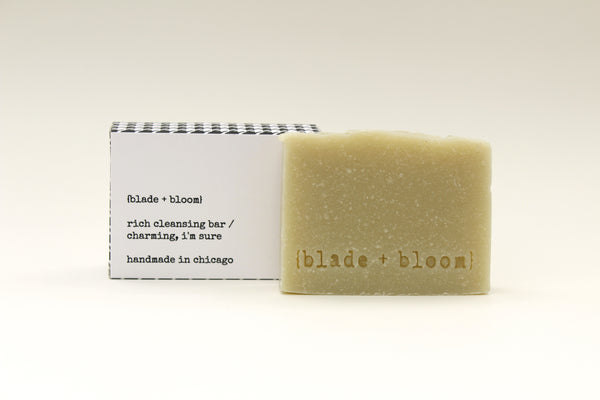 rich cleansing bar/ charming, i'm sure
