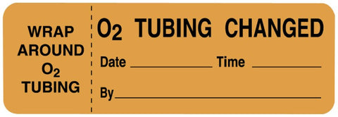 "Oxygen Therapy and Treatment Label, 3"" x 1"""