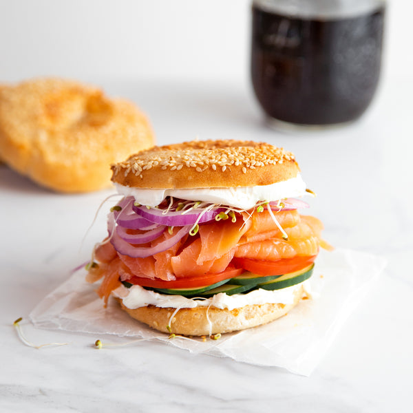 Salmon & Cream Cheese Sesame Pagel