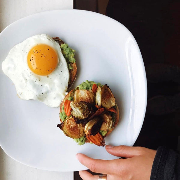 Roasted Veggie Egg Pagel