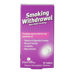 NatraBio Smoking Withdrawal Homeopathic Cessation Tablets 60 Count